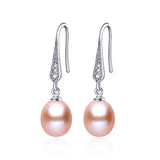 925 sterling silver earrings natural freshwater pearl jewelry for women platinum plated earrings
