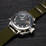 Watches men luxury brand AMST dive LED digital sport Military Watch Genuine Leather quartz wristwatches