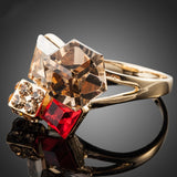 Exclusive Gold Plated Multicolour Stellux Austrian Crystal Ring