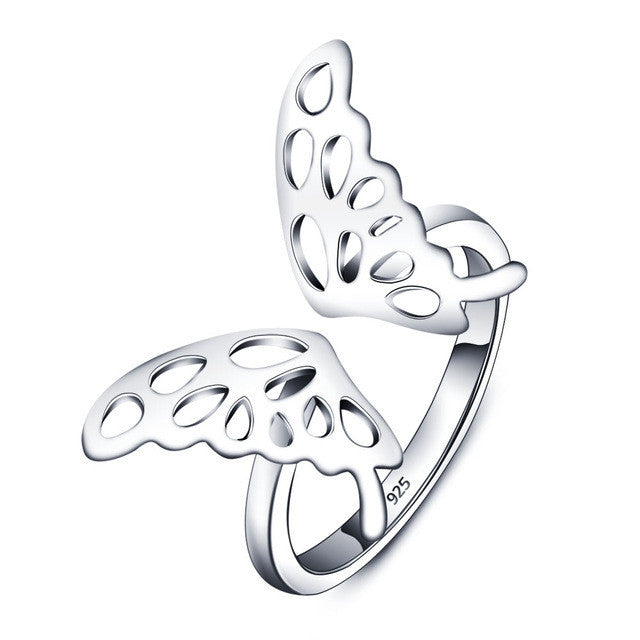 Butterfly Accessories 925 Sterling Silver Rings For Women New Party Jewelry
