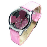 Candy Color Fashion Mouse Head Style Cute New Girls Ladies Womens Quartz Wrist Watch Wristwatch