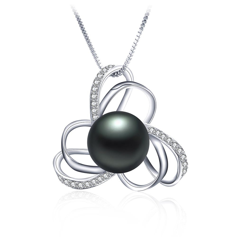 European style natural stone pendant for women fashion 925 sterling silver necklace&pendant 100% real freshwater pearl