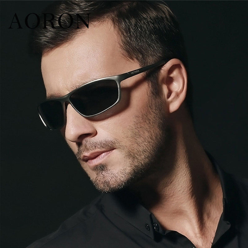 Magnesium Alloy Frame Polarized Sunglasses Men's Driver Sunglass Mirror Outdoor Sports Glasses