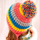 Autumn Winter Hats With Ears Multicolor Rainbow Brand Hat Women Turban Head knitted Skullies Beanie Hat for Girls Gorros