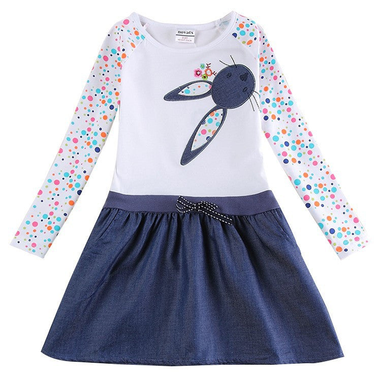 Girl Dress long sleeve kids dresses for girls Clothes Nova Brand children clothing Kids Clothes summer Party Girls Dress