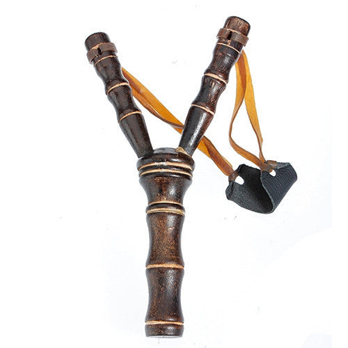 Bamboo Style Wood Wooden Sling Shot Toys Slingshot Bow Catapult Hunting