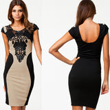 Bandage Dress New Arrival Women Elegant Embroidery Bodycon Dresses New Fashion Patchwork Autumn Casual Bandage Dress