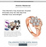 Fabulous Plant Ring Rose Gold Plated Engagement Ring Zircon Trendy Rings