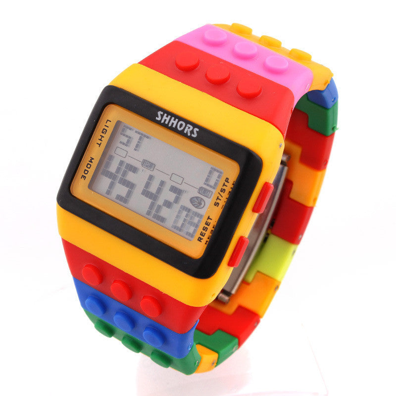 LED Watch Coloful Stripe Unisex New Sports Watches Shhors Rainbow watch Digital Hour Wristwatch