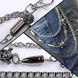 Best Deal New Fashion Silver Alloy Unisex Hip-hop Skull Pendant Punk Rock Cowboy Pants Trousers Chain Gift