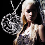 Best Quality Song Of Ice And Fire Game Of Thrones Targaryen Dragon Badge Necklace