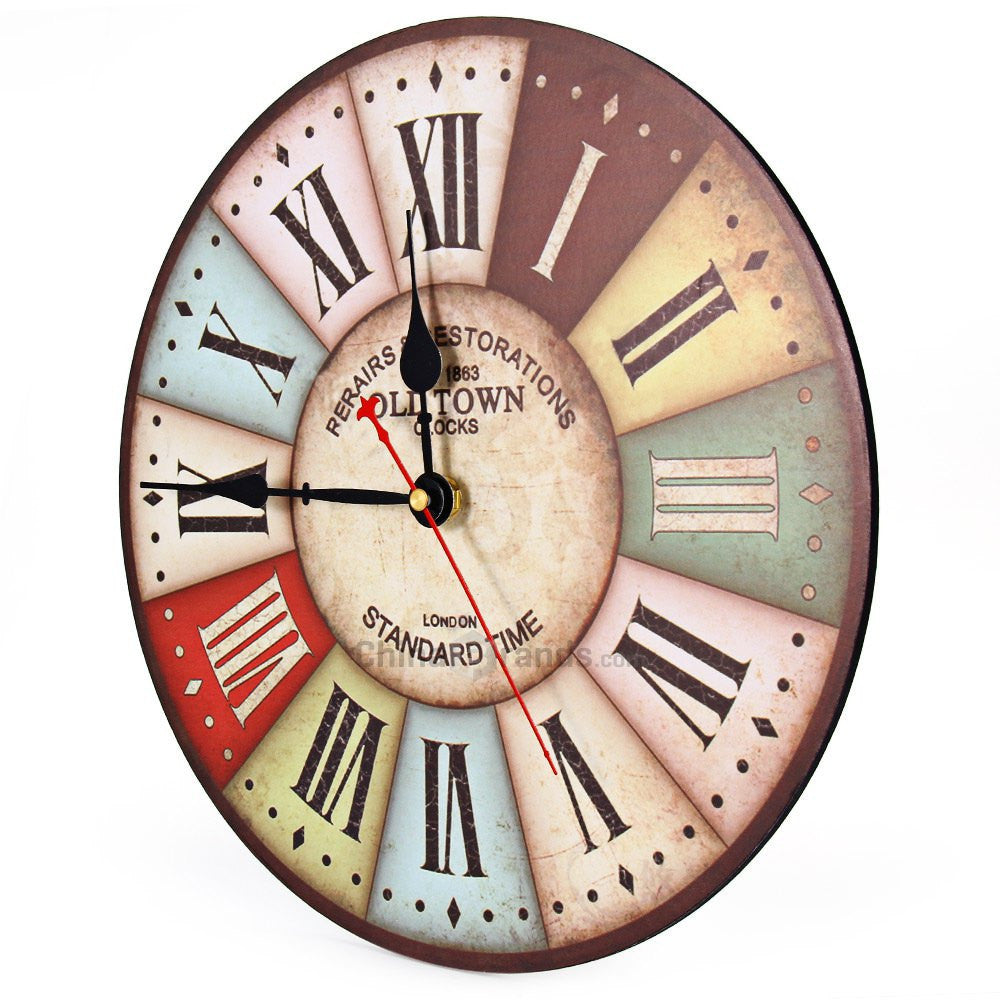 Best Wood Wall Clock Vintage Quartz Large Wall Watch Roman Numbers European Style Mordern Design Wall Clocks