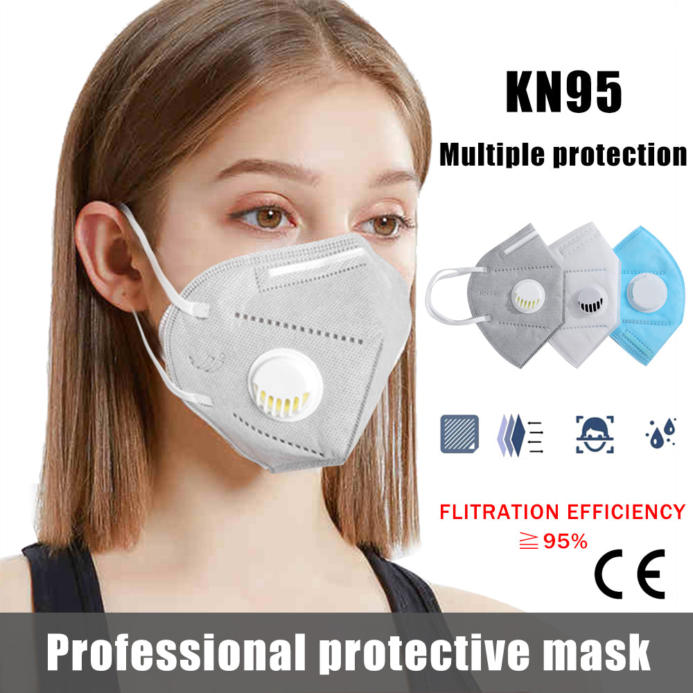 10 PCS KN95 Mouth Mask Dust Respirator Washable Cover Cotton Unisex Mouth Muffle for Allergy/Asthma/Travel