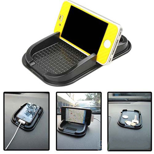 Black Car Dashboard Sticky Pad Mat Anti Non Slip Gadget Mobile Phone GPS Holder Interior Items Accessories