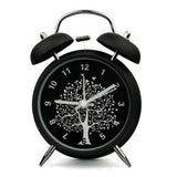 Classic Metal Twin Bell 3 inches Flower Tree Desk Table Alarm Clock