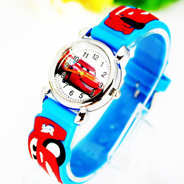 Cute Cartoon Car 3D Child Watches Cartoon Children Watch Quartz Wrist Watch Christmas Gift