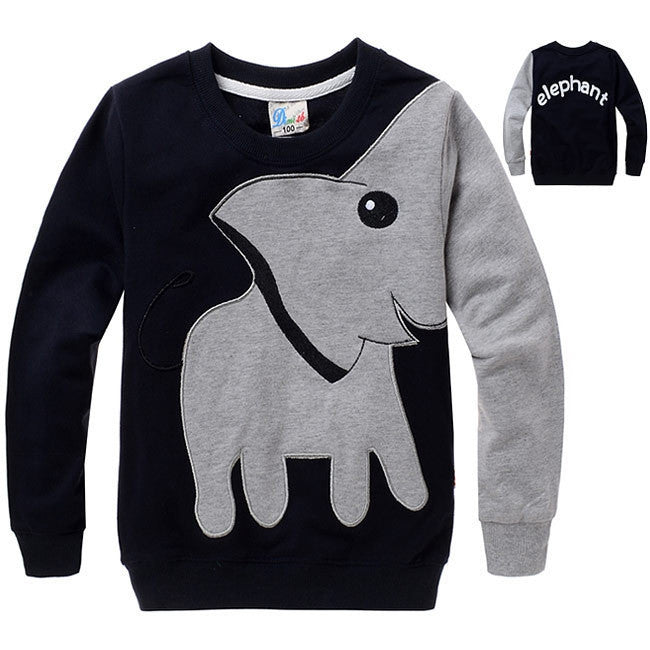 New Elephant, children sweater,boy girl Pullover top shirts Hooded Sweater hoodie