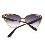 Brand Design Cat Eye Sunglasses Women High Quality Metal Frame Openwork Mesh Modeling Sun Glasses Oculos UV400