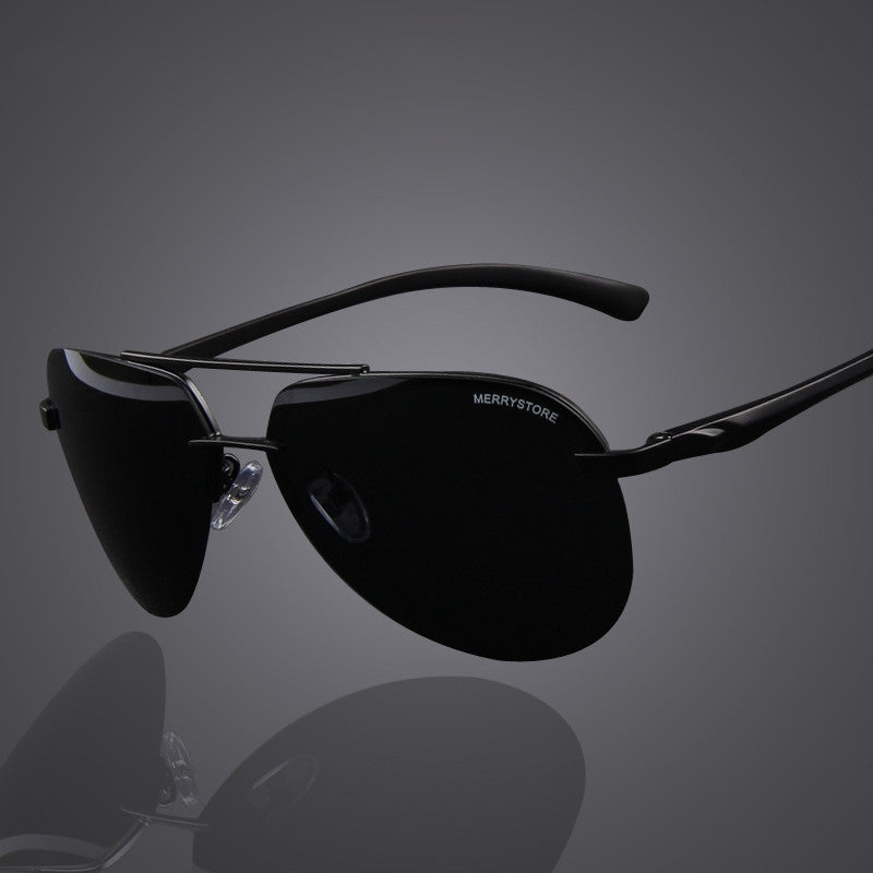 Brand Men 100% Polarized Aluminum Alloy Frame Sunglasses Fashion Men's Driving Sunglasses High quality
