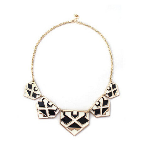 Brand Trendy Pendants Necklace Geometric Enamel Statement Fashion Necklace Charm Jewelry