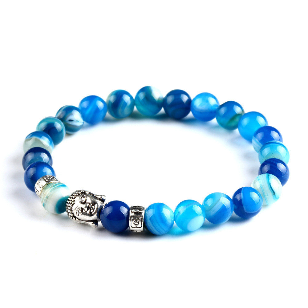 Buddha beads Bracelets Bangles Natural Stone Charm Bracelets For Women and Men Jewelry Bracciali lava pulseiras