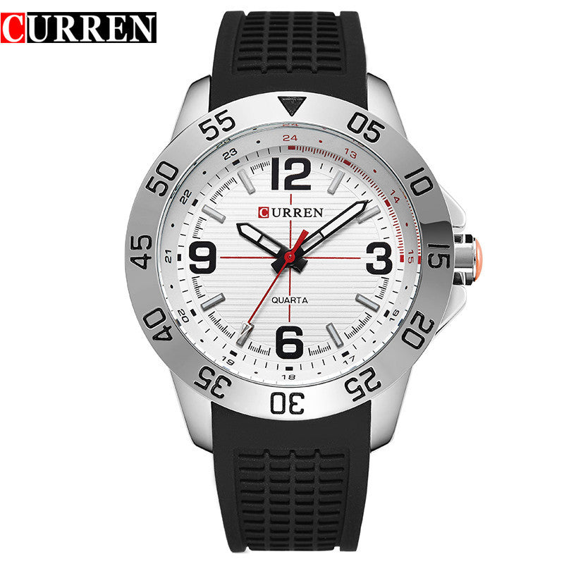 CURREN Men Sports Watches Men's Round Dial Large Digital Scale Analog Blue Strap Wristwatches Reloj New Relogio Masculino