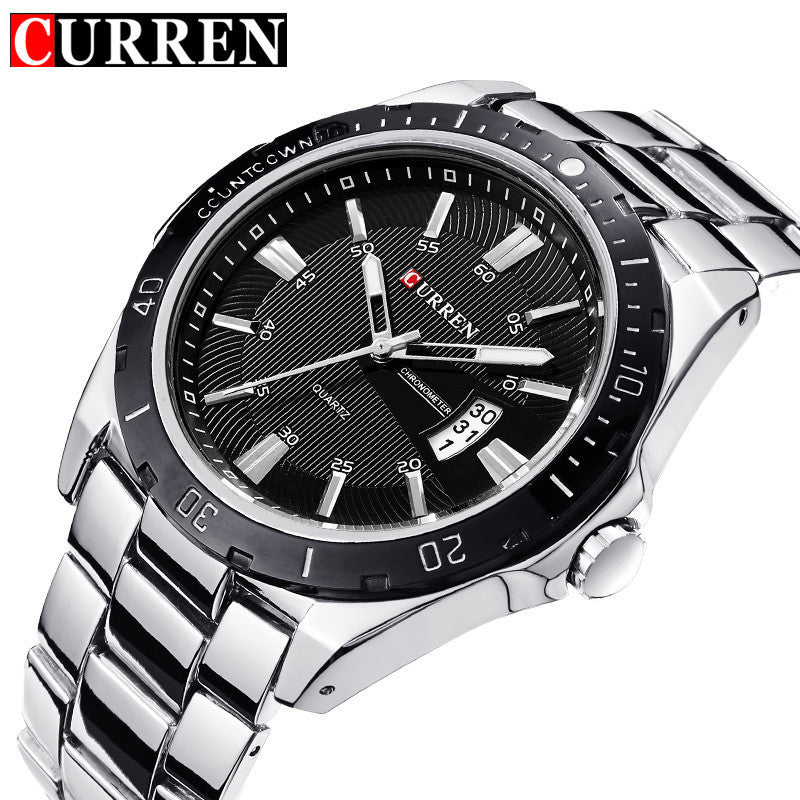 CURREN Luxury Brand Full Stainless Steel Analog Fashion Men's Quartz Watch Business Montre Watch Men Watches Relogio Masculino