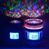 Camera Lens Music Starry Projection Alarm Clock Star Sky Calendar Thermometer Digital LED Backlight Multi-Function Music Clock