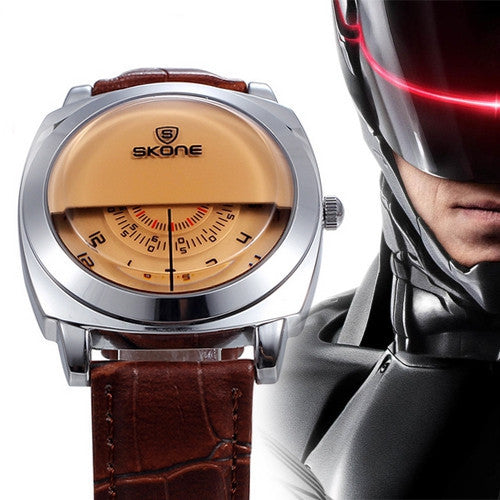 Casual SKONE Genuine Men & Women Brand Wristwatches Special design Military Leather Sports Watch Relogio Masculino