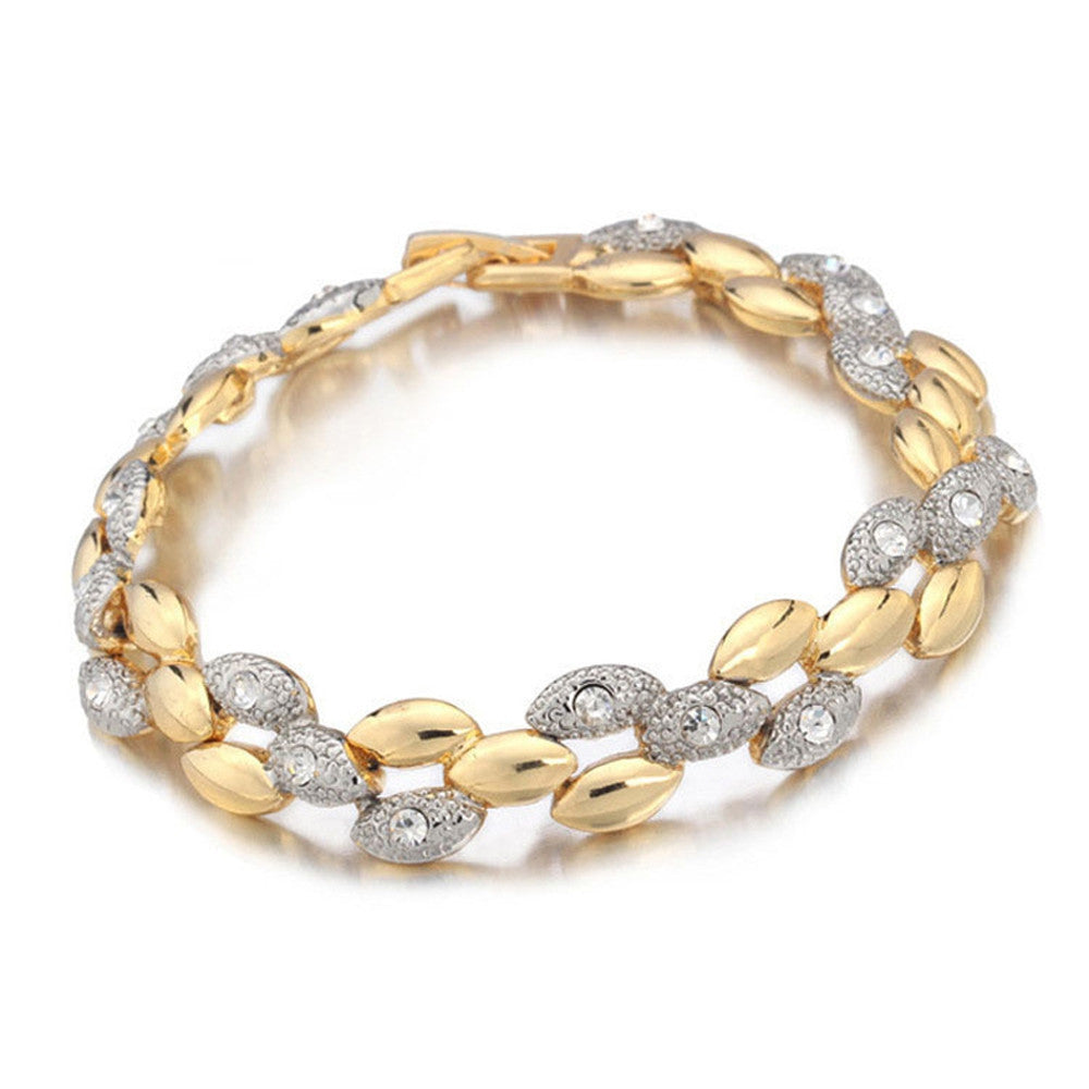 Chain Link Bracelet Women screw gold bracelet crystal pulseiras femininas New Accessorios