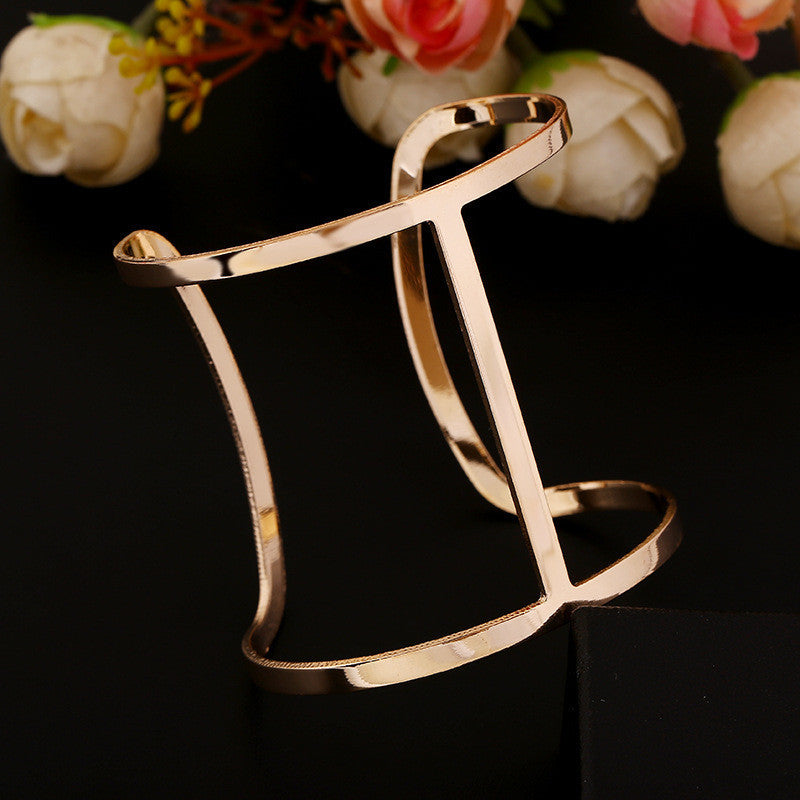 Charm fashion steampunk silver plated 18k gold cuff bracelets bangles for women pulseiras sexy bracelet femme accessories