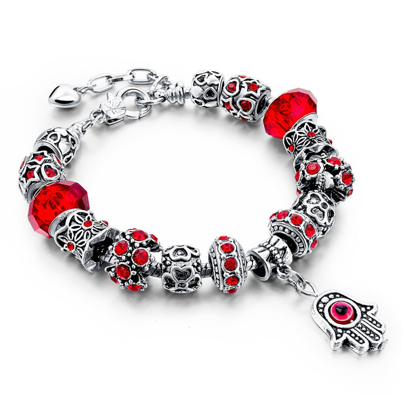 Charm Bracelets For Women Crystal Beads Evil Eye Bracelets & Bangles