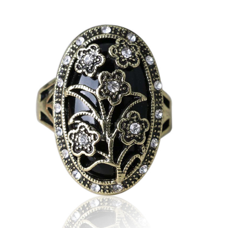Charms Fashion Vintage Wedding Flower Rings High Quality Plating Flower Design For Women