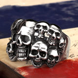Men's Punk Biker Jewelry lot of multi solid Skull Ring 316L Stainless Steel Jewelry