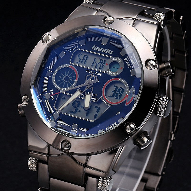 Climbing Watch Men Top Brand Luxury Watch LIANDU Chronograph Watch Casual Multiple Time Zone Wristwatches Erkek Saat Mens