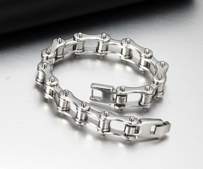 Cool Mens Bracelet pulseira pulseras Stainless Steel Motorcycle Bicycle Chain Bracelets Fashion Jewelry Gift