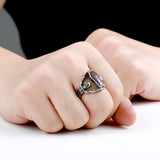 Cool Undertaker Skull Ring Stainless Steel Exclusive sale Jewelry for man and boy