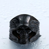 Cool Hell Death Skull Ring Man Never Fade Punk Biker High Quality Ring