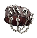 Cool Rock Punk Men Woman Unisex Genunine Leather Bullet Skull Bracelets Bracelet