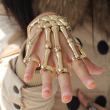 Coolest Unique Fashion Style Halloween Hand Skull Skeleton Elastic Bracelet Bangle