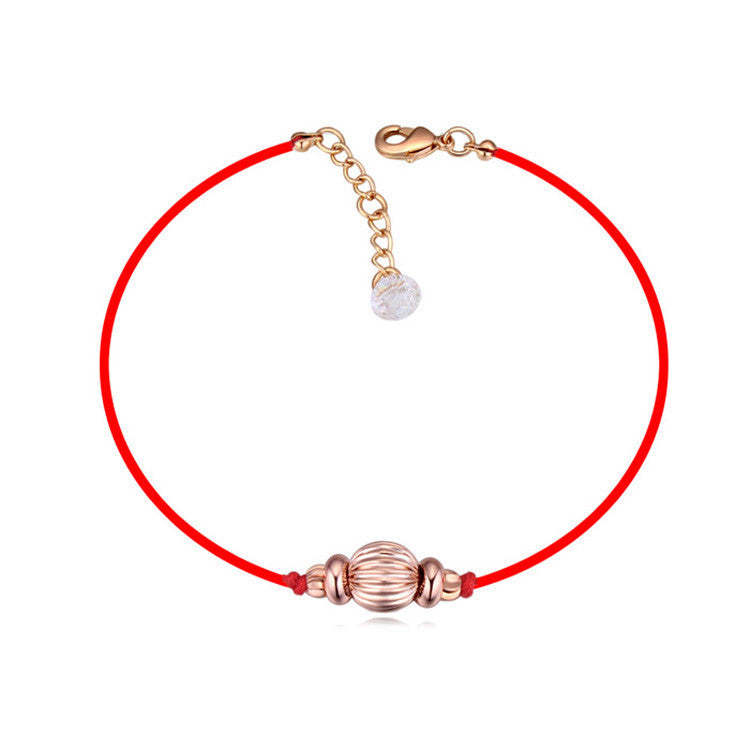 Crystal From Swarovski jewelry thin red thread string rope Charm Bracelets for women Fashion New sale Top Hot summer style