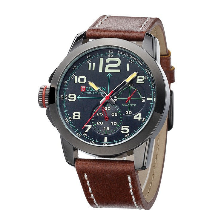 new watches men military watch fashion business watch man leather strap casual Wristwatches