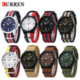 Curren Luxury Brand Nylon Strap Analog Display Date Men's Quartz Watch Casual Watch Men Wristwatch