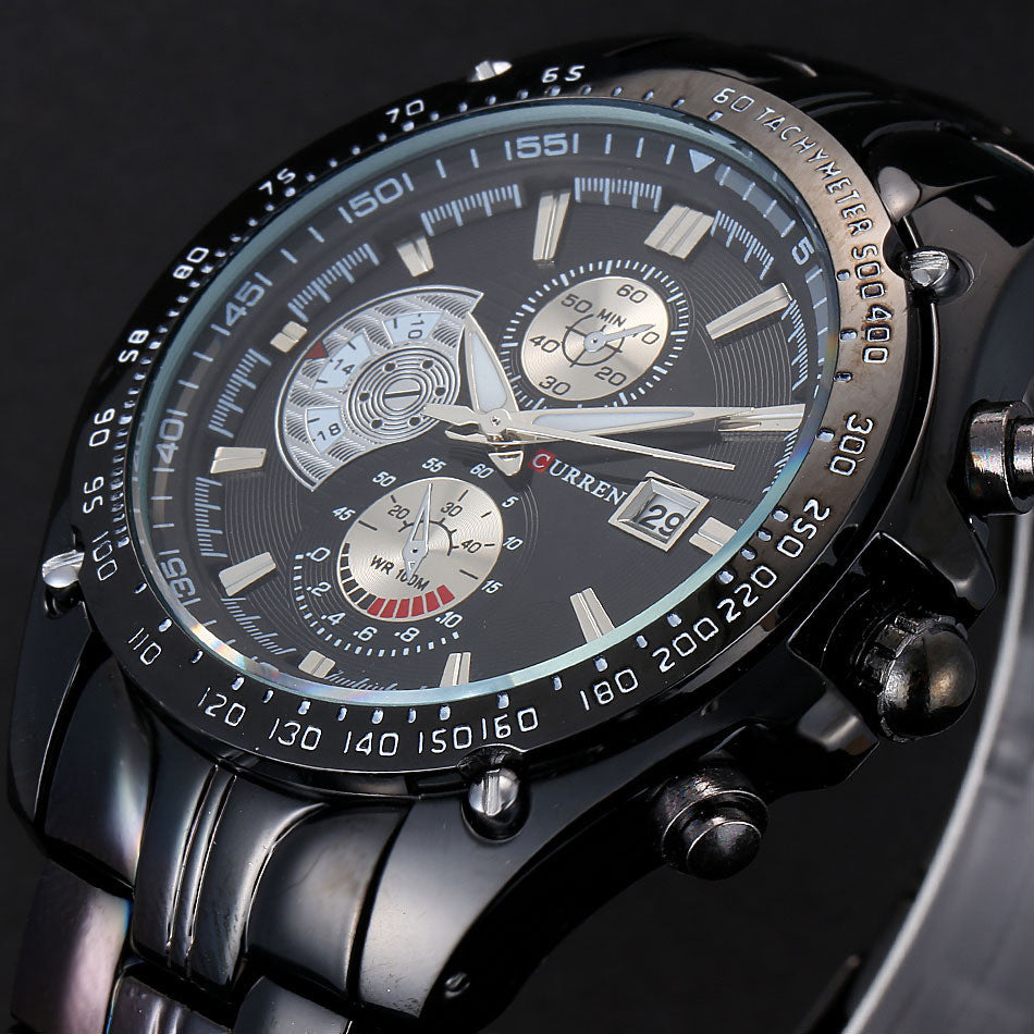 Curren Luxury Brand Stainless Steel Strap Analog Date Men's Quartz Watch Casual Watch Men Wristwatch