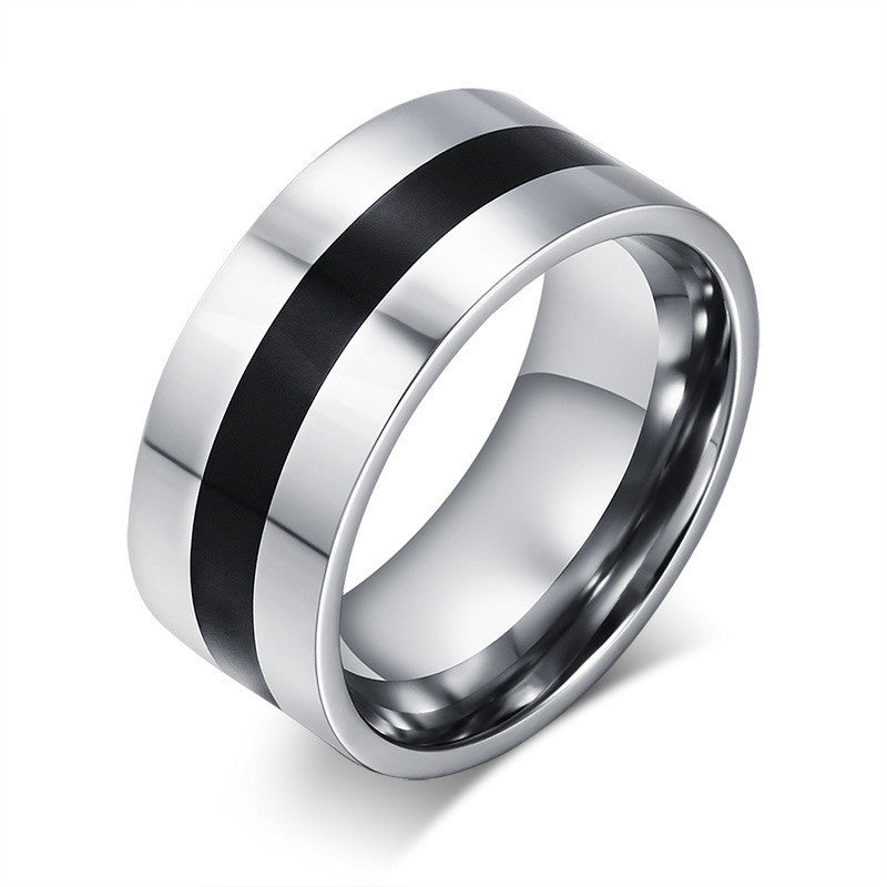 Fashion Men's Titanium Steel Finger Rings Men's Party Jewelry Wedding Engagement Rings