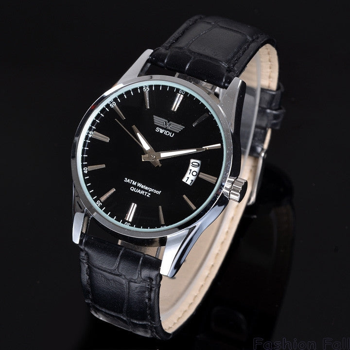 Design Gentle Man Casual Fashion Gift Watches Men Luxury Leisure Leather Quartz Watch Mens Wrist Watch