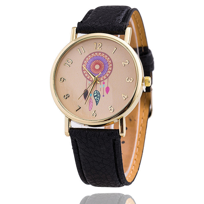 Dreamcather Women Quartz Watches Reloj Mujer Relogio Feminino Leather Strap Wristwatch New Dress Watch Clock