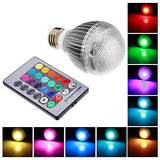E26E27 9 W Integrate LED RGB LM RGB Remote-Controlled Globe Bulbs AC 85-265 V