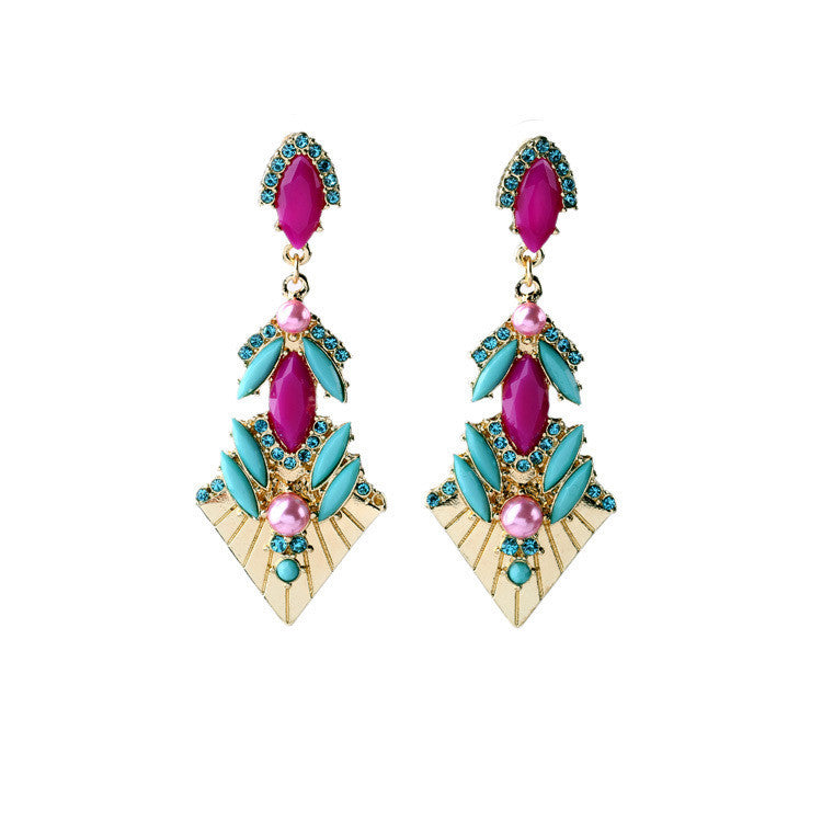 Elegant Color Female Long Personality Classic Earrings Fashion Jewelry