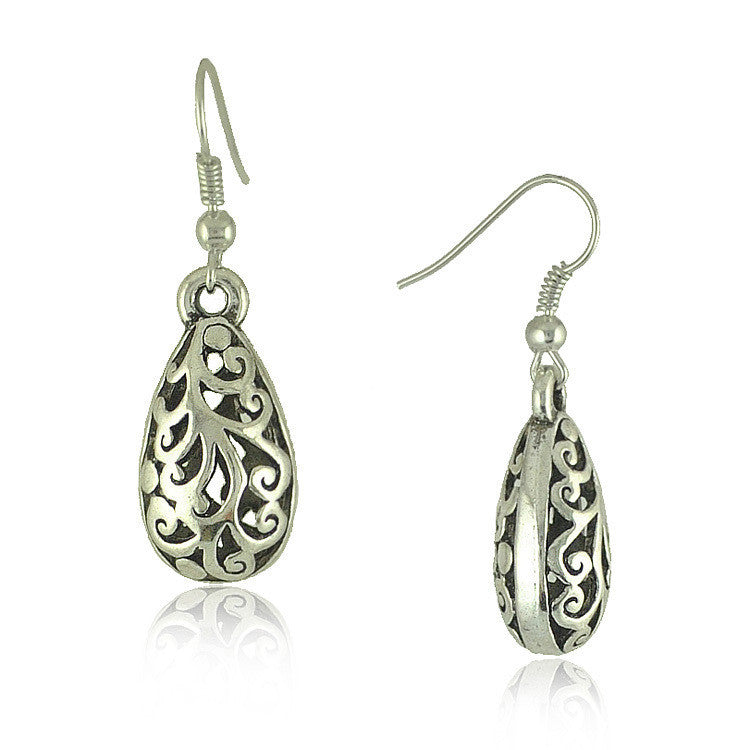 Ethnic Vintage Tibetan Silver Carving Drop Earrings Vintage Jewelry Earrings for Women